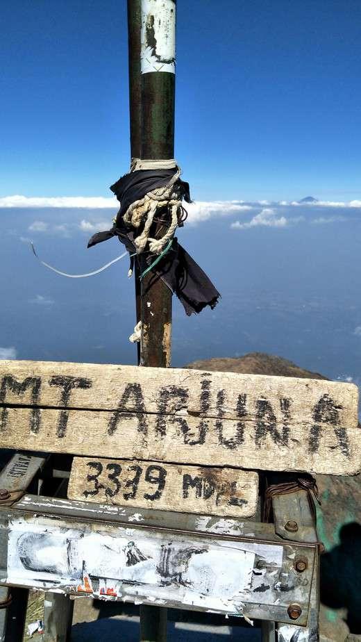 Mount Arjuna Sign Post